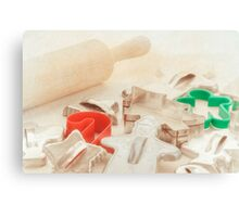 Vintage Tin Cookie Cutters Christmas Card Canvas Print