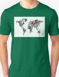 Butterflies Map of the World Unisex T-Shirt