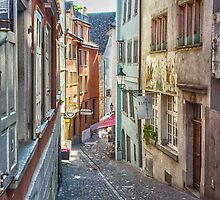 Pastel Alleyway: Zurich by Adam Northam