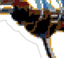 Pixel Art Raygun Sticker