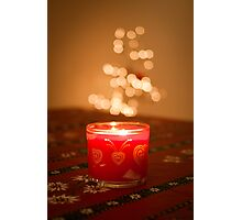 Starry Candle Photographic Print