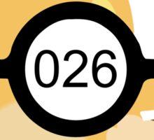 Pokeball 026 Sticker