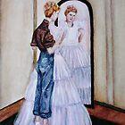 Bride in the mirror by jamie joy