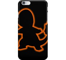 Pokemon Charmander Silhouette iPhone Case (Black) iPhone Case/Skin