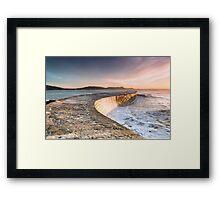 Sunkissed Cobb at Lyme Regis Framed Print