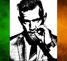 Conor McGregor Irish Flag by sinkko