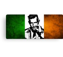 Conor McGregor Irish Flag Canvas Print
