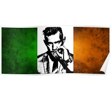 Conor McGregor Irish Flag Poster