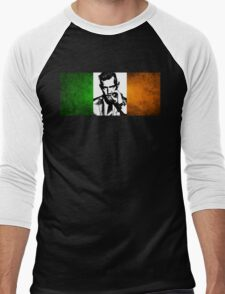 Conor McGregor Irish Flag Men's Baseball ¾ T-Shirt