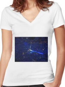 Taylor Lights Louisville Women's Fitted V-Neck T-Shirt