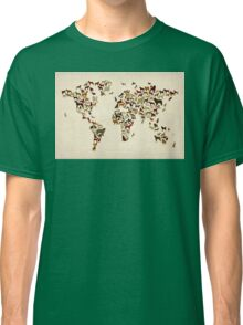 Dogs Map of the World Map Classic T-Shirt