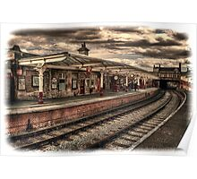 Vintage Keighley Station Poster