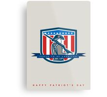 Patriots Day Greeting Card American Patriot Minuteman Musket Rifle Metal Print