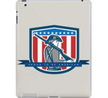 Patriots Day Greeting Card American Patriot Minuteman Musket Rifle iPad Case/Skin