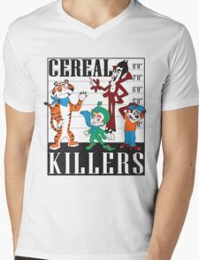 Cereal Killers Nerd Universitee T-Shirt Mens V-Neck T-Shirt