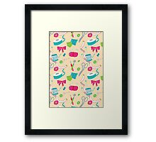 Sewing Session Framed Print