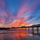 Palace Pier, Brighton at sunset by Stuart  Gennery