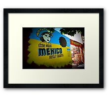 Little Miss Mexico Dos Framed Print