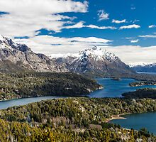 Mountains and lake Nahuel Huapi (Patagonia - Argentina) by Mathieu Longvert