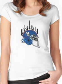 Giant trouble in NY City!! Women's Fitted Scoop T-Shirt