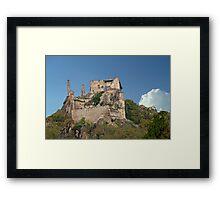 Kuenringer Castle Ruins Framed Print