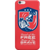 Patriots Day Greeting Card American Patriot Ringing Liberty Bell iPhone Case/Skin