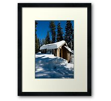 Cabin With Snow Framed Print