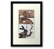 Mr. Rabbit learns from Wilhelm Reich Framed Print