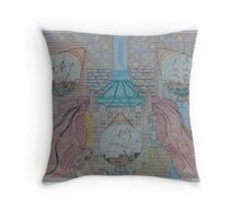 First Bridge with Ships Throw Pillow