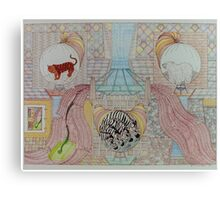 First Bridge with Mammals Canvas Print