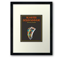 Bill And Ted's Excellent Adventure - Brown Framed Print
