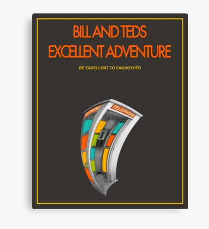 Bill And Ted's Excellent Adventure - Brown Canvas Print