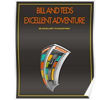 Bill And Ted's Excellent Adventure - Brown Poster