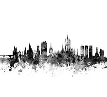 Aberdeen Scotland Skyline Photographic Print