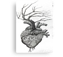 Dot Work Tree Heart Canvas Print