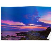 Ireland. Galway. Galway Bay. Sunset. Poster