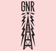 Galaxy News Radio Rock Gradient One Piece - Short Sleeve