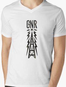 Galaxy News Radio Rock Gradient Mens V-Neck T-Shirt