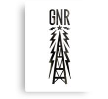 Galaxy News Radio Rock Gradient Metal Print