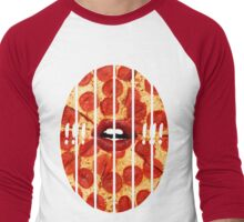 Chopped Pizza Men's Baseball ¾ T-Shirt