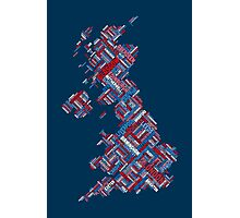 Great Britain UK City Text Map Photographic Print