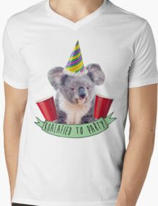 Koala-fied To Party Mens V-Neck T-Shirt