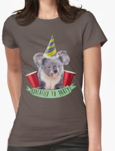 Koala-fied To Party Womens Fitted T-Shirt