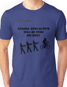 Cycling T Shirt - Zombie Apocalypse Will be Won on Bikes Unisex T-Shirt