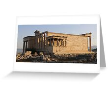 Temple of Erechteion with the Caryatids statues Greeting Card