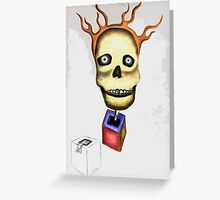 Skull and Weirdness Greeting Card