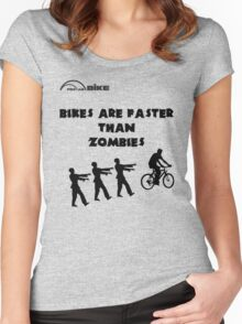 Cycling T Shirt - Bikes are Faster than Zombies Women's Fitted Scoop T-Shirt
