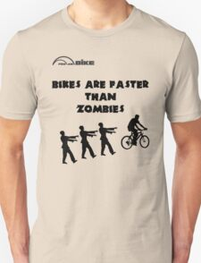 Cycling T Shirt - Bikes are Faster than Zombies T-Shirt