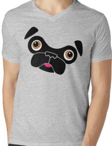 Cute little pug Mens V-Neck T-Shirt