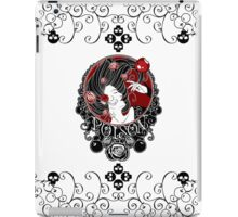 Poison - Black Rose on White iPad Case/Skin